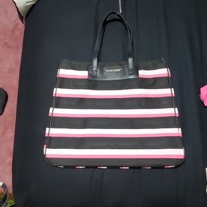 NWT Victoria's Secret tote, black pink & white